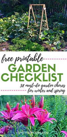 The Ultimate Garden Planning Checklist for Winter and Spring Never miss a thing in the garden again. Get this free printable garden planning checklist to keep track of all your garden planning chores. Whether you plant vegetables or flowers, there's something for you. #gardening #spring #vegetables #flowers #gardenchores #freeprintable #plant #planting #freechecklist #gardenchecklist #springvegetablegardening #vegetablegardeningplans #wintergardening