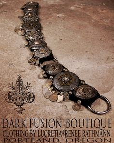 "Serpentine Bellydance BELT, 36.5""-40"" inches, Silver, Gunmetal Gray, Kuchi Coins, Fusion, Vintage, Noir, Nouveau, Ritual, Tribal, Costume by darkfusionboutique on Etsy https://www.etsy.com/listing/490135571/serpentine-bellydance-belt-365-40-inches"