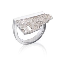 Silver Cloud Ring by Maya Sebbah | Jewelry Artist. Texture Ring.