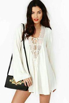Hippie lace dress