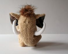 Wooly Mammoth Plushie Soft Cuddly Baby Toy Brown by andreavida