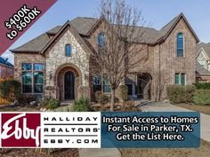 Get an instant list of homes for sale in Parker, TX 75002 priced from $400,000 to $600,000. Fully searchable and no sign up required.