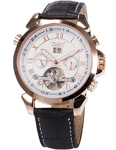 AMPM24 Automatik Mechanik Uhr Tages- & Datums Herren Uhr rosegold Armbanduhr weiss - http://besteckkaufen.com/ampm24/ampm24-automatik-mechanik-uhr-tages-datums-uhr