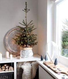 """This contemporary Christmas tree decoration is from our feature """"White Christmas"""""""