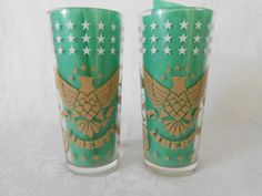 Liberty Eagle Glasses - Heavy Bottom by WeBGlass on Etsy