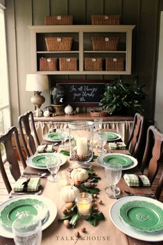 tablescape for Thank