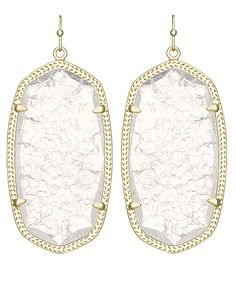 Danielle Gold Earrings in Crackle Crystal - Kendra Scott Jewelry. Coming October 15!