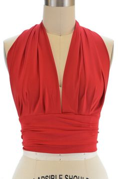 Marilyn pinup halter top in red. This top is only $20, and it also comes in black, white, and teal. Seriously this is awesome. Would look soooo cute with high waisted shorts or a circle skirt. The back is really low though, so you'd have to go braless.