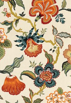 Hot House Flowers Schumacher Fabric