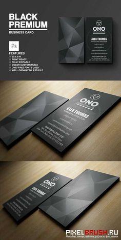 Black Premium Business Card - 792623