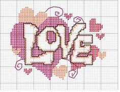 Love, lo schema punto croce di San Valentino