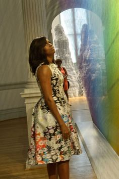 Michelle Obama Just Wore the Quintessential Spring Dress