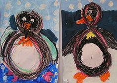 schrijfdans: de 8 vormen en nadien een pinguïn van maken. Penguin from the #8