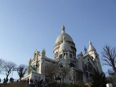 The Basilique du Sacre-Coeur is located on the highest point of Paris, the butte Montmartre. It was designed by Paul Abadie in Roman-Byzantine style and dedicated to the Sacred Heart of Jesus. The interior is dominated by the beautiful painted dome from which you can have a great view of Paris.
