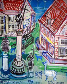 Edward Dwurnik— Galeria Blue-S All Art, Contemporary Art, Scene, Polish, Artist, Enamel, Artists, Manicure, Modern Art