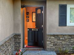 Four paneled Dutch Door with mail slot