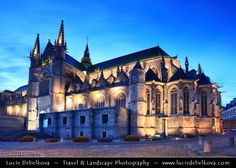Church of Brabant Gothic style dedicated to St. Waudru - patron saint of the city of Mons