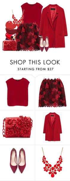 """""""woman in red"""" by claire86-c on Polyvore featuring moda, MANGO, Valentino, Nancy Gonzalez, Zara, Style & Co. e NARS Cosmetics"""