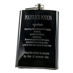 8oz BLACK Polyjuice Potion black flask Hip Flask Plus