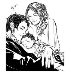 Will and Tessa with baby James. So beautiful...
