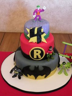 batman and robin cake ideas