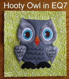 Freemotion by the River: Hooty Owl Applique pattern and giveaway!