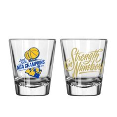 2018 Nba Champions, Draymond Green, Kevin Durant, Stephen Curry, Golden State Warriors, Shot Glass, Shot Glasses