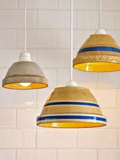 Lamper af gamle skåle
