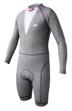 Pee-wee Herman Cycling Skinsuit, Fashioned After His Iconic Suit #cycling #lycra #spandex