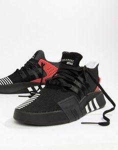 release date 648bb 46147 adidas Originals EQT Bask ADV Sneakers In Black AQ1013