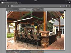 backyard designs – Gardening Ideas, Tips & Techniques Outdoor Kitchen Grill, Patio Kitchen, Outdoor Kitchen Design, Outdoor Kitchens, Outdoor Cooking, Outdoor Living Rooms, Outside Living, Outdoor Spaces, Outdoor Decor