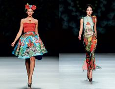"Frida Kahlo: Fashion as the Art of Being. Looks from the Maya Hansen spring 2013 collection, titled ""Skully Tulum."""