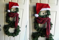 DIY Snowman Wreath-Simple and cute