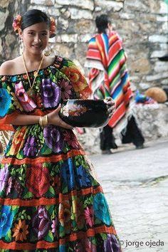 Traditional Dancer from Chiapa de Corzo, Chiapas, Mexico