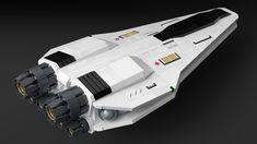 Vera Class Medical Shuttle by noblebun. Lego Spaceship, Spaceship Design, Pintura Exterior, Starship Concept, Lego Ship, Lego Craft, Sci Fi Ships, Concept Ships, Star Wars Ships