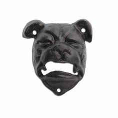 Bottle Opener Cast Iron Bull Dog Head Black Wall Mounted Bar Beer Opener #Gardens2you Wall Mounted Bar, Beer Opener, Garden Decor Items, Beer Bar, Black Walls, Garden Ornaments, How To Make Ornaments, Cast Iron, Bull Dog