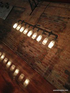 Fancy - Iron Pipe Bottle Lamp Industrial Chandelier