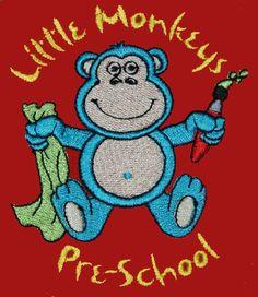 Pre-school embroidered logo.
