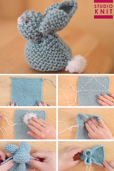 Knit up a square in the Garter Stitch to easily create the stuffed softie animal shape of a Bunny. These little cuties are quick knit favorites for beginning knitters. crochet crafts Knit a Bunny from a Square Crochet Pattern Free, Softie Pattern, Easy Knitting Patterns, Tutorial Crochet, Easy Knitting Ideas, Rag Doll Tutorial, Knitted Doll Patterns, Easter Crochet Patterns, Blanket Patterns