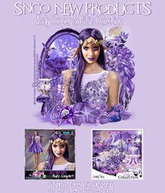 Carmen designs: Dress Fairy Purple
