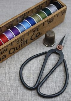 Our new custom Bobbin Box  is the perfect addition   to your applique and english paper piecing supplies.   We have selected th...