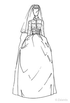 1956 Princess Grace of Monaco wedding gown illustration from @ZalandoUK