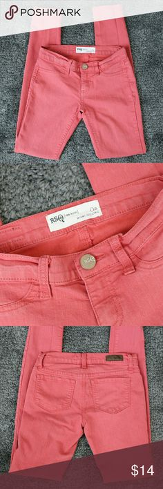 OFFER ME 50% OFF SALE/  RSQ Miami Jegging RSQ Miami Jegging.  Size 0R.  About 13 inches measured across the waist, side to side.  Inseam is about 29 inches.  Cotton blend, has 1% spandex.  Dark salmon color.  Used, and some normal denim wear.  Nothing excessive.. no holes, stains, rips.  Fun spring color! RSQ  Jeans Skinny