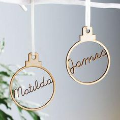 Personalised Name Bauble - The epitome of romance, we've put together a seasonal edit packed with frosty metallics and wintertime touches – enough to make any bride-to-be swoon.