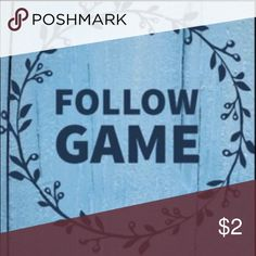 Like, Follow, and Share!!! This is my first follow game!! Excited to meet new poshers and help each other grow. 1️⃣ Follow me! 2️⃣Like this post 3️⃣Follow everyone who has liked it 4️⃣Tag some friends who might be interested 5️⃣Share with your followers. It's that easy. Don't forget to check back! Dresses