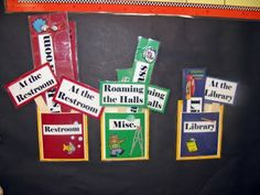 hall passes and signs for the desk - effective