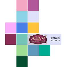 """Pinterest. This color palette is also very fitting of """"Alice in Wonderland"""" because of all its many, bright colors. It feels fun."""