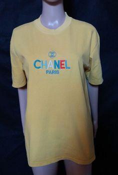 #twitter#tumbrl#instagram#avito#ebay#yandex#facebook #whatsapp#google#fashion#icq#skype#dailymail#avito.ru#nytimes #i_love_ny #cnn # BBCBreaking #  BBCWorld #  cnnbrk # nytimes # globaltimesnews #     Vtg 80s Chanel T-shirt Embroidered Spellout Logo Fits Women's  Yellow #CHANEL #BasicTee