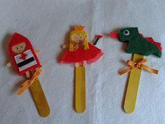 Marionetas de Sant Jordi hechas en fieltro by La Maryeta
