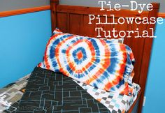 Tie-Dye Pillowcase: Christmas in July